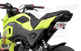 motorcycle license plate frame with led brake light undertail fender eliminator integrated tail light system 2017