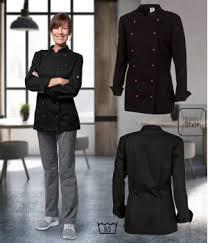 vetement cuisine femme veste de cuisine femme manches longues peut bouillir