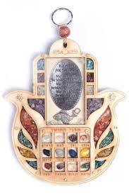hoshen stones hoshen wall hanging judaica hamsa home blessing
