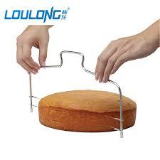 cutter de cuisine acier inoxydable fils gâteau cutter trancheuse niveleur