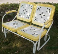 Glider Porch Furniture Antique Wrought Iron Porch Glider Design Featuring