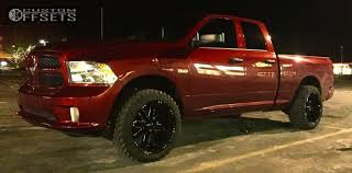 dodge ram 1500 wheels and tires wheel offset 2014 dodge ram 1500 aggressive 3 5 leveling kit
