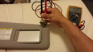 youtube lexus velcro video how to fix your vanity sunvisor lights turning on
