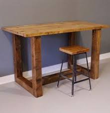 Wooden Bar Table Square Dining Table Counter Height Pub Bar Bistro Kitchen