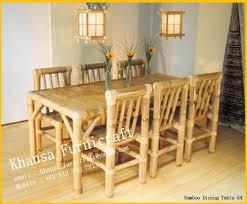 Bamboo Dining Table Set Bamboo Bamboo Dining Room