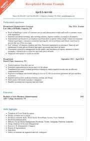Resume Samples Insurance Jobs by Receptionist Resume Sample To Help You Stand Out