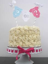 gender reveal cake topper gender reveal party decor gender