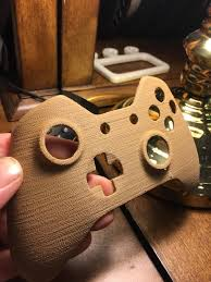i 3d printed with wood for a new look on my xbone controller