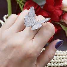 butterfly crystal rings images Crystal stones butterfly ring choicest1 png