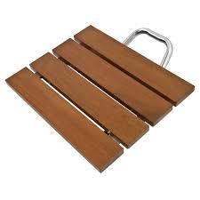 Bath Shower Bench Folding Shower Seat Bench Wall Mount Solid Wood Construction Bath