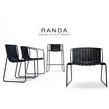 Chaise D Ext Rieur Chaise D Extérieur Randa Structure Acier Peint Blanc Assise Corde Unie