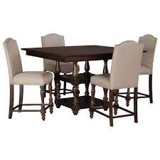 5 Piece Pub Table Set Signature Design By Ashley Baxenburg 5 Piece Square Dining Room