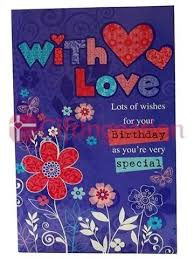 archies birthday special with love greeting card