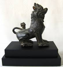 antique bronze lion burmese antique asian antiques 19thc bronze lion sculpture burma