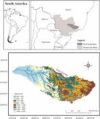 Parana River Map Implementation Of A Two Way Coupled Atmospheric Hydrological