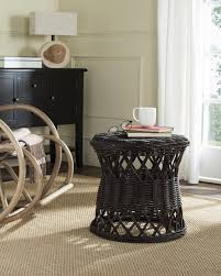 Wicker Accent Table Table Amazing Sea7028b Accent Tables Furniture By Safavieh White