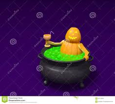 halloween pumpkin animation halloween pumpkin with cocktail takes a bath in witch cauldron