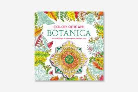 color origami botanica coloring book paperback abrams