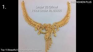 gold pendant fashion necklace images Latest light weight gold bridal short necklaces designs with jpg