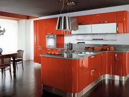 Orange Kitchen Cabinets Glossy Kitchen Cabinets Bar Cabinet