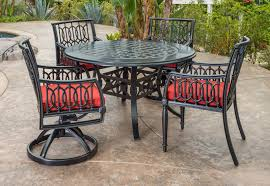 Patio Dining Sets For 4 by Manhattan By Gensun Luxury Cast Aluminum Patio Furniture 4 Person