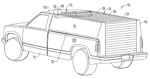 patent us7404586 retractable roof for a truck topper google