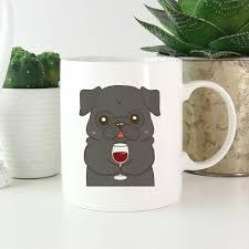 weird coffee mugs black pug drink wine cool mug dog funny coffee mugs 11 oz mug