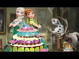 frozen anna birthday cake disney princess elsa anna cake