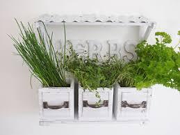 shabby chic vintage wall garden planter pots herb window box