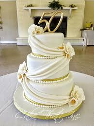 golden wedding cakes 50th wedding anniversary cake toppers to adorn the