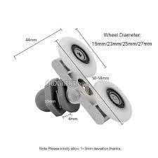 Patio Door Runners Brand New 8pcs Lot Double Wheel Swing Sliding Door Rollers Pulleys