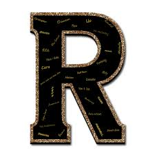 monogram guest book signature letter r guest book sign 21 foam board black gold