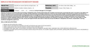 acting hr manager for ibm egypt cover letter u0026 resume