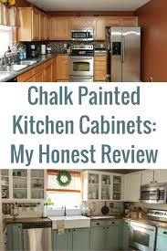can you paint formica kitchen cabinets kitchen cabinets chalk painted kitchen cabinets 2 years later our storied home