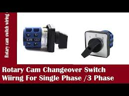 rotary cam changeover switch for single phase 3 phase in urdu