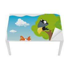 corbeau bureau papier peint fox et le corbeau avec du fromage tenant dans le bec