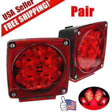 utility trailer light bulbs new 12v led trailer tail light kit brake turn signal utility rv s
