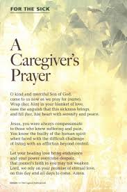 cards for the sick prayer card caregivers prayer one who is sick card holy cards