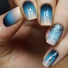 50 blue nail art designs gradient nails white polish and trendy