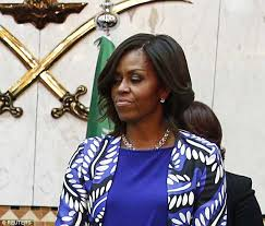 does michelle obama wear hair pieces michelle obama is not impressed as she pulls faces in saudi arabia