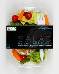 lifestyle foods u0027 garden side salad with lite italian dressing