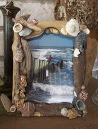Art And Craft Home Decor Coastal Home Decor Driftwood And Sea Shell Picture Frame Loving