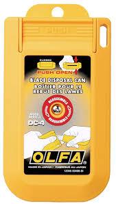 olfa 1064415 dc 4 blade disposal case utility knives amazon com