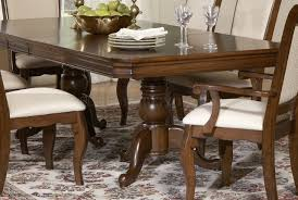 finish double pedestal formal dining table w options cherry finish double pedestal formal dining table w options