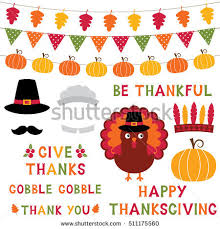 thanksgiving photo booth props thanksgiving vector design elements photo booth stock vector
