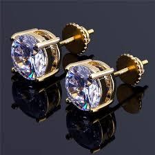 back earrings for men hiphop cz earrings for men women luxury back earring
