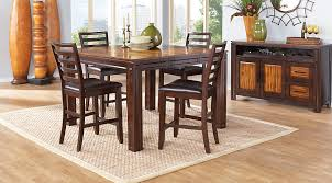 Acacia Wood Dining Room Furniture Dining Table Counter Height Adelson Chocolate 5 Pc Room 18 Ege