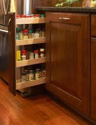 practical hidden rack in wooden custom kitchen cabinet artenzo