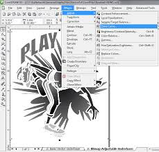 creating an underbase in corel draw
