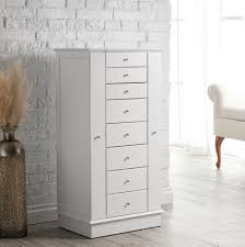 Wooden Jewelry Armoire Solid Oak Jewelry Armoire Home Design Ideas